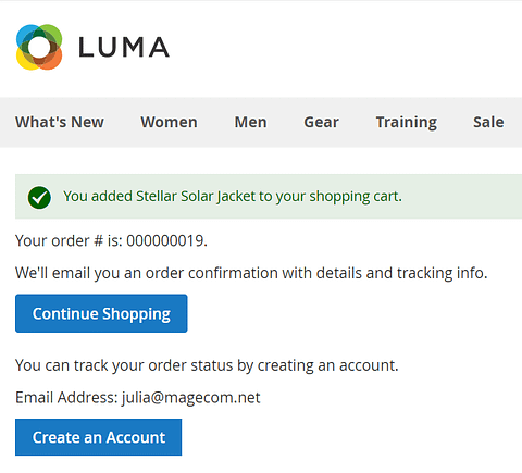 Magento create account after purchase